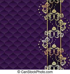 Elegant lila roco Hintergrund
