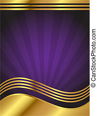Elegant lila und goldener Hintergrund