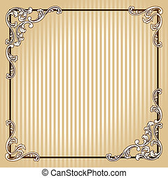 Elegant quadratischer Sepiarahmen