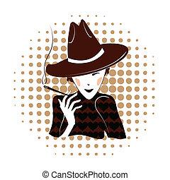 Elegante Dame raucht