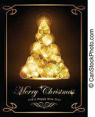 Elegante goldene Weihnachtskarte