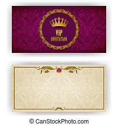 Elegante Vorlage für eine vip-luxuriöse Einladung