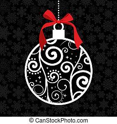 Elegante Weihnachten hängt Schmuck