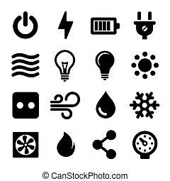 Elektrische Icons eingestellt
