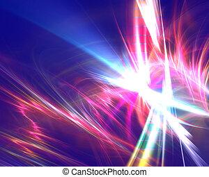Elektrische Regenbogen-Fraktik