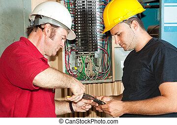 Elektrische Reparaturschaltungsschalter.