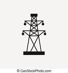 Elektrische Turm-Ikone.