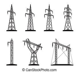 Elektro-Übertragungstürme.