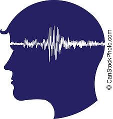 Elektroenzephalogramm Kopflogo.