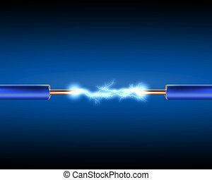 Elektrokabel mit elektrischen Funken