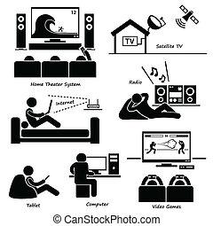 Elektronikgeräte-Icons