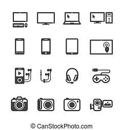 Elektronische Geräte-Icons.