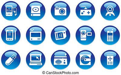 Elektronische Geräte-Ikonen