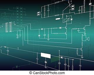 Elektronische Hintergrund mit Schaltkreisen