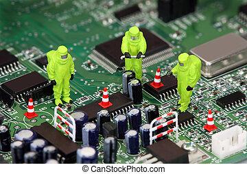 Elektronische Recycling-Konzept