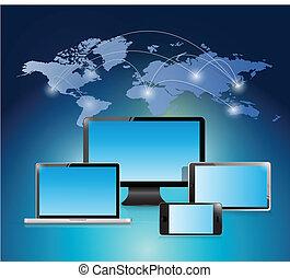 Elektronische weltweite Illustration