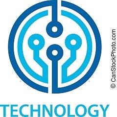 Elektronisches Schalttafel-Technologie-Symbol.