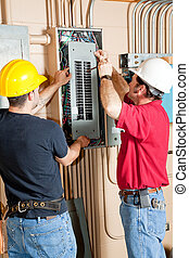 Elektroschalter-Panelreparatur