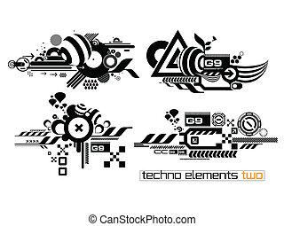elemetnts, techno, satz, zwei