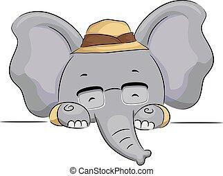 Elephantgläserforschertafel.