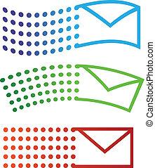 Email fliegende Ikonen
