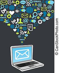 Email Marketing-Kampagne Icon-Spritze