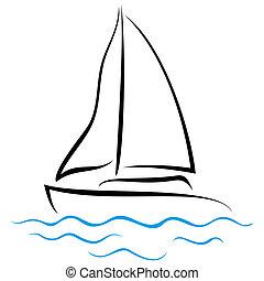 Emblem der Yacht.