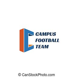 Emblem für Football-Team