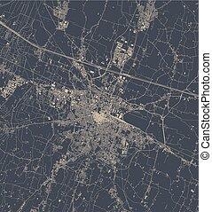 emilia, landkarte, italien, stadt, reggio, nell
