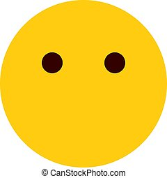 Emoji ohne Mund.
