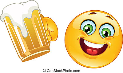 emoticon, bier