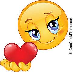Emoticon gibt Herz