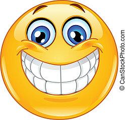 emoticon, grosses lächeln