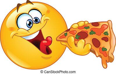 Emoticon isst Pizza