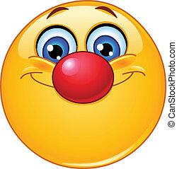 Emoticon mit Clownnnase