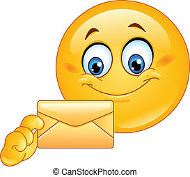 Emoticon mit Umschlag