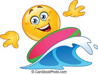emoticon, surfen