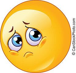 emoticon, traurige