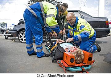 EMS-Team an der Arbeit