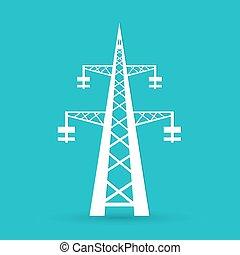 Energieübertragungsturm.