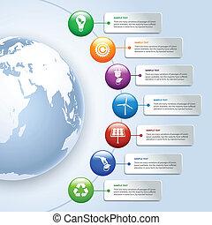 energie, grün, infographics