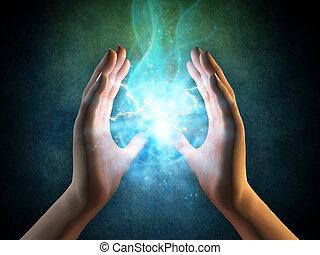 energie, hände
