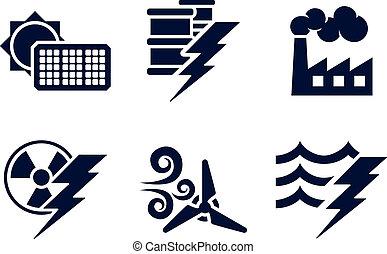 Energie-Icons