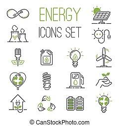 Energie Icons Vektor eingestellt.