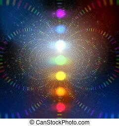 energie, kosmisch, abstrakt, hintergrund