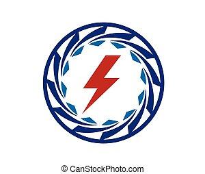 energie, turbine, symbol, kreativ, betreiben generator
