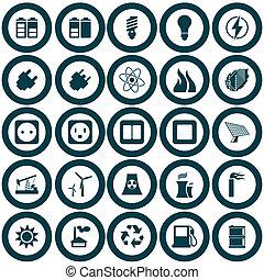 Energie- und Energie-Icon-Set