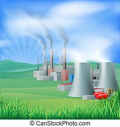 Energieerzeugungs-Illus