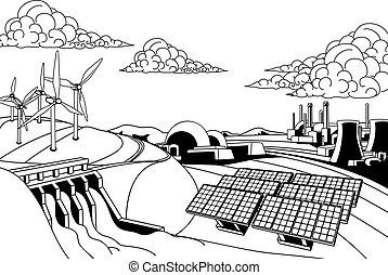 Energieerzeugungsquellen