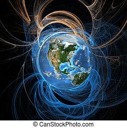 Energiefelder, Erde westlich